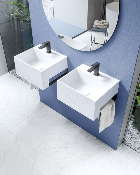 baños modernos lavabos pequeño cuadrados suspendidos