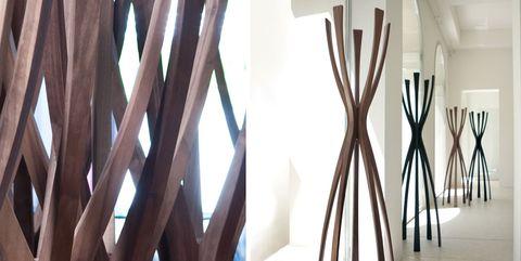 Interior design, Tree, Branch, Wood, Room, Textile, Furniture, Architecture, Curtain, Art,
