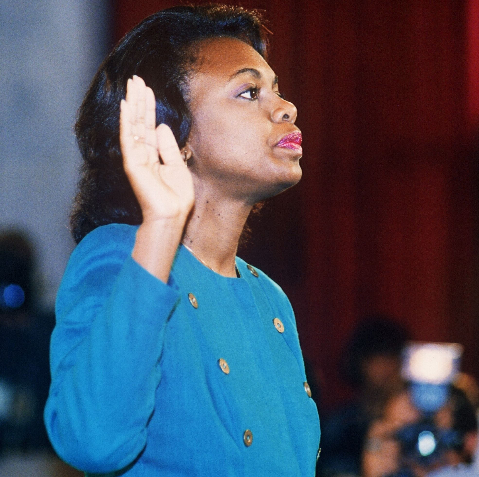 Anita Hill at her 1991 congressional hearing.