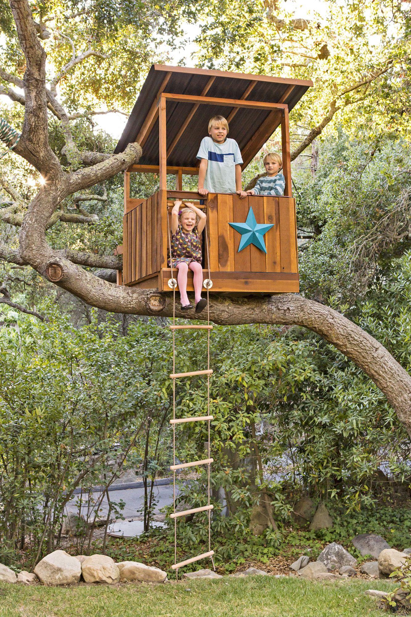 Lisa Romerein/Otto. Build Your Dream Treehouse & 67 DIY Backyard Design Ideas - DIY Backyard Decor Tips
