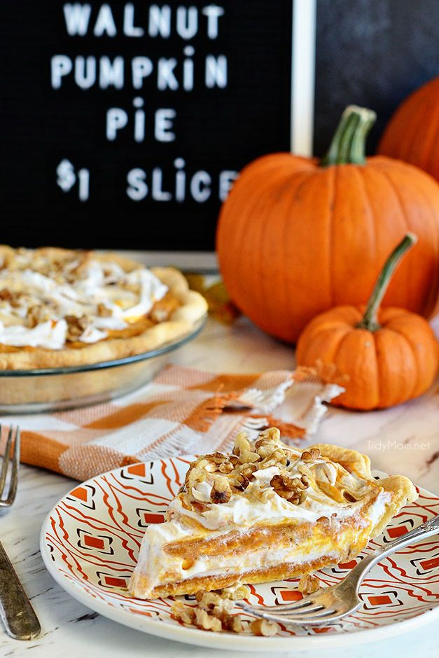 layered walnut pumpkin pie recipe