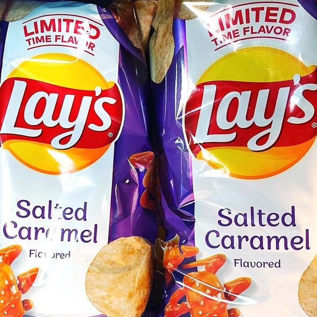 lay's salted caramel chips flavor