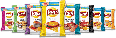 Lay's Tastes of America Potato Chips Include Fried Pickles