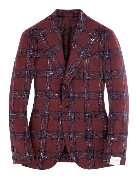 Clothing, Outerwear, Jacket, Blazer, Brown, Sleeve, Maroon, Design, Pattern, Top,