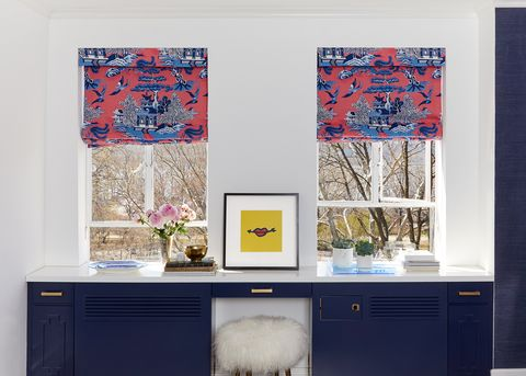 Bleu, chambre, meubles, mur, design d'intérieur, table, design, textile, modèle, papier peint,