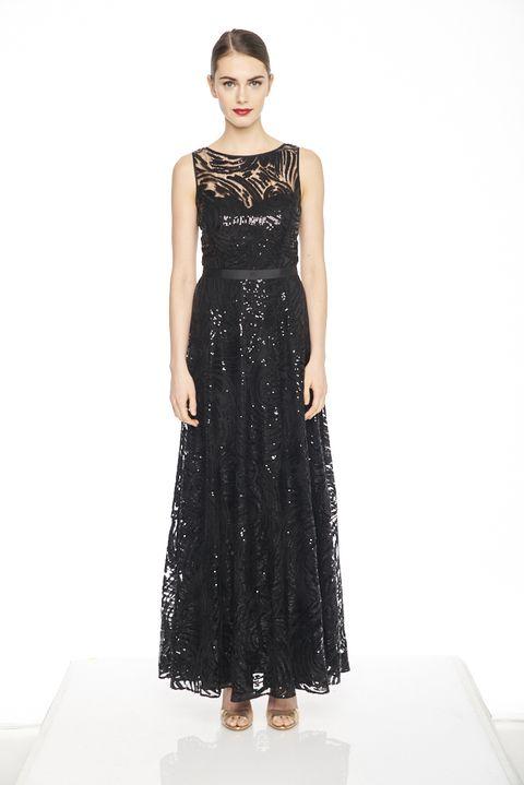Clothing, Dress, Fashion model, Gown, Cocktail dress, Fashion, Day dress, A-line, Formal wear, Shoulder,