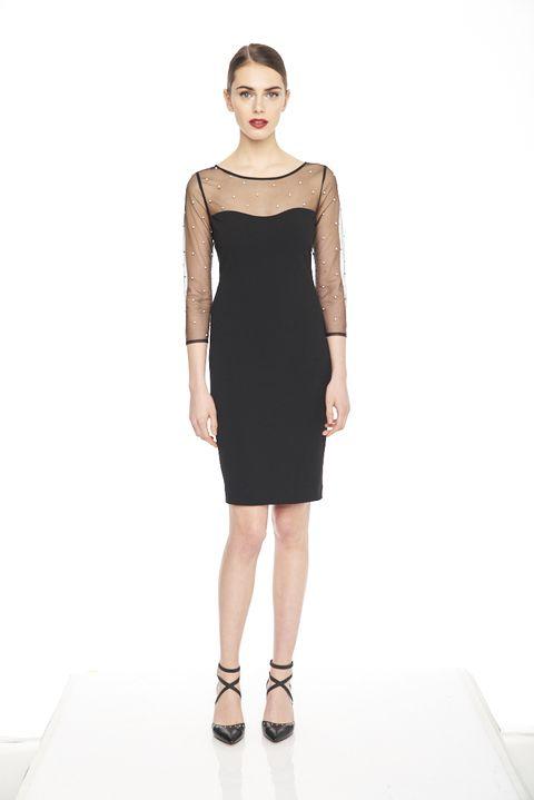 Clothing, Fashion model, Dress, Cocktail dress, Shoulder, Fashion, Little black dress, Day dress, Neck, Sheath dress,