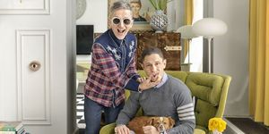 Jonathan Adler and Simon Doonan in their home