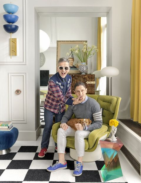 Jonathan Adler's Manhattan apartment is an explosion of colour and fun