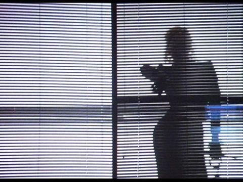 Black, Window covering, Window blind, Line, Monochrome, Tints and shades, Window treatment, Window, Shadow, Interior design,