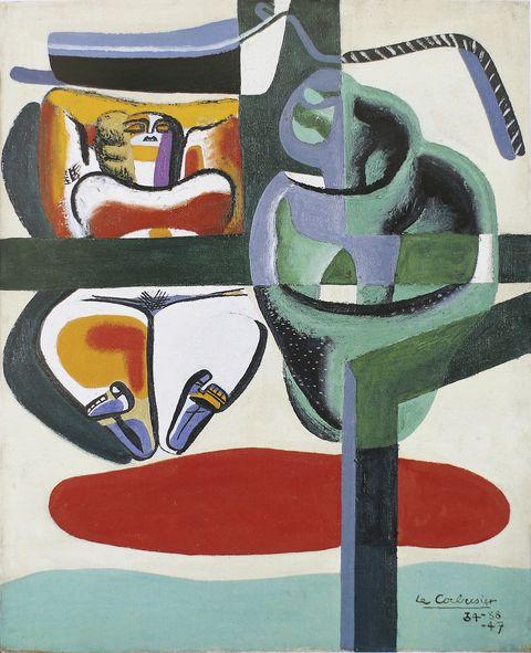 Cuadro Baigneuse, barque et coquillage, Le Corbusier