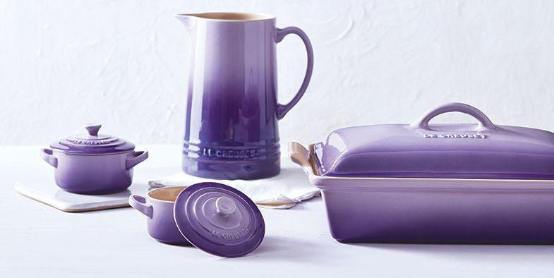 le creuset is having a sale on lavender cookware right now. Black Bedroom Furniture Sets. Home Design Ideas