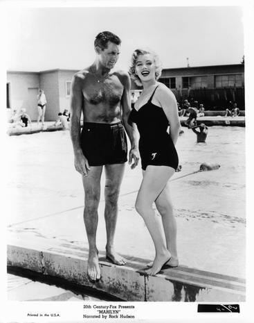 Photograph, Standing, Swimwear, Chest, Maillot, One-piece swimsuit, Thigh, Monochrome, Barefoot, Waist,