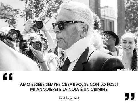 Le migliori frasi di Karl LagerfeldGetty Images/Artwork by Marie Claire Italia