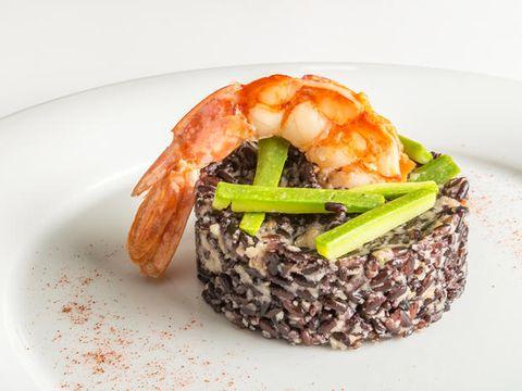 Dish, Food, Cuisine, Ingredient, Shrimp, Produce, Risotto, Caridean shrimp, À la carte food, Scampi,