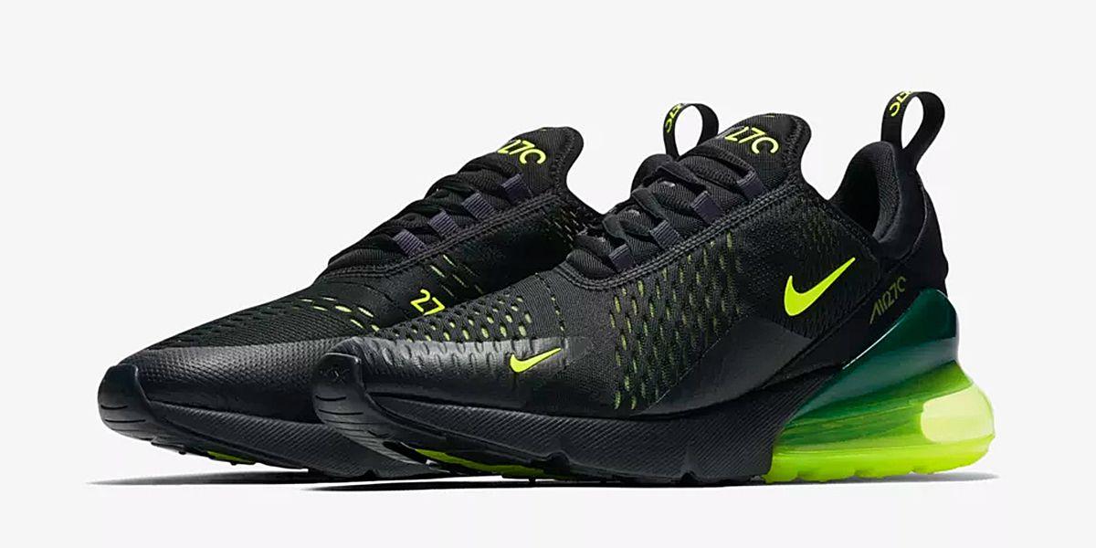 Nike Air Force 1 High Black Volt Pack. High contrast