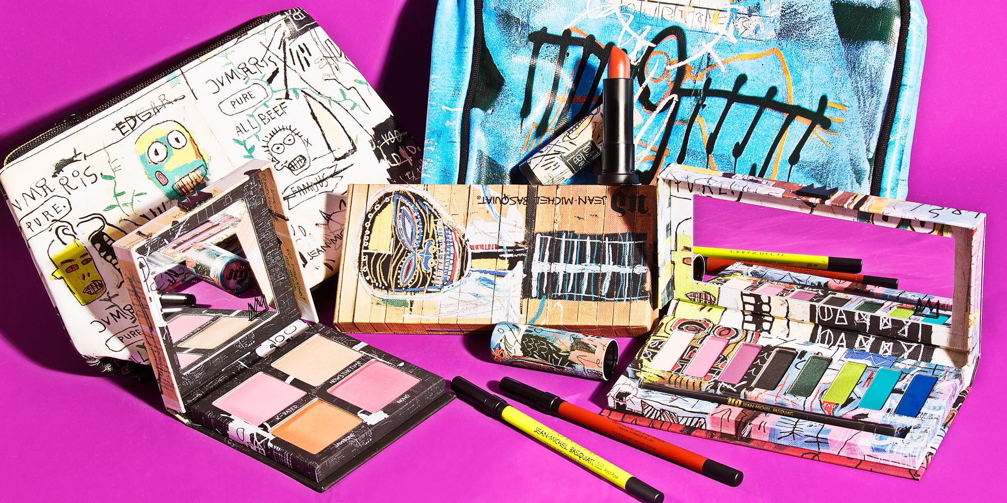 Urban Decay And Jean Michel Basquiat Collection New 3 Complete Shades Of Collaboration Limited Edition Makeup
