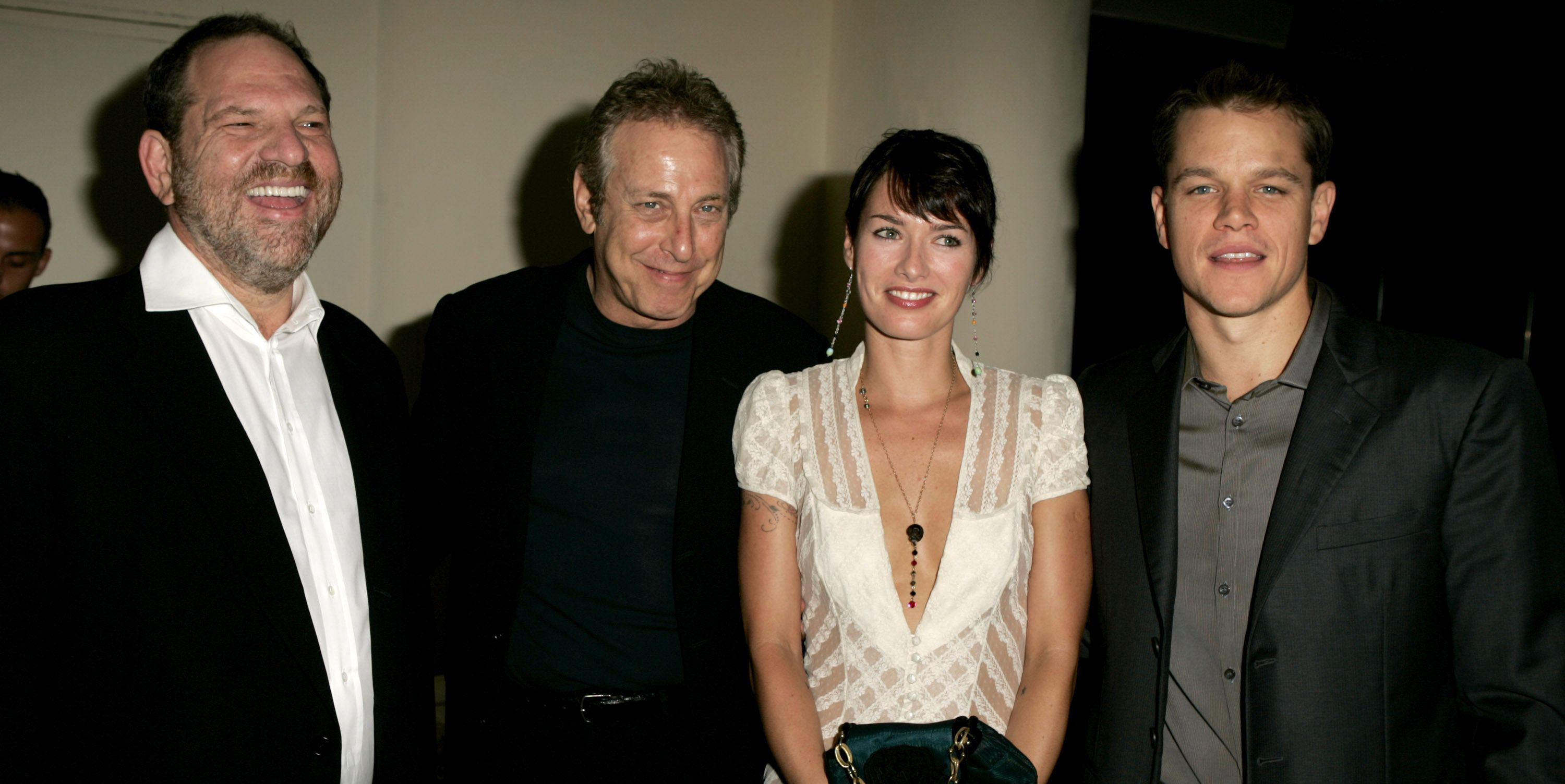 Harvey Weinstein and Lena Headey at the premiere of The Brothers Grimm