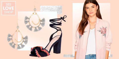 White, Clothing, Pink, Footwear, Fashion, Fashion accessory, Blazer, Outerwear, Peach, Shoe,