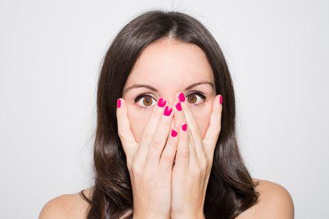 Face, Hair, Nose, Skin, Lip, Facial expression, Cheek, Beauty, Head, Eyebrow,