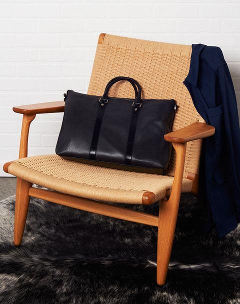 Chair, Furniture, Leather, Armrest, Design, Textile, Bag, Table, Comfort, Handbag,
