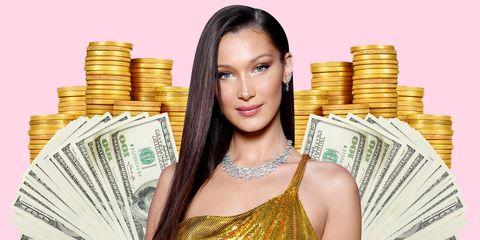 Cash, Money, Currency, Beauty, Saving, Dollar, Money handling, Black hair, Metal,