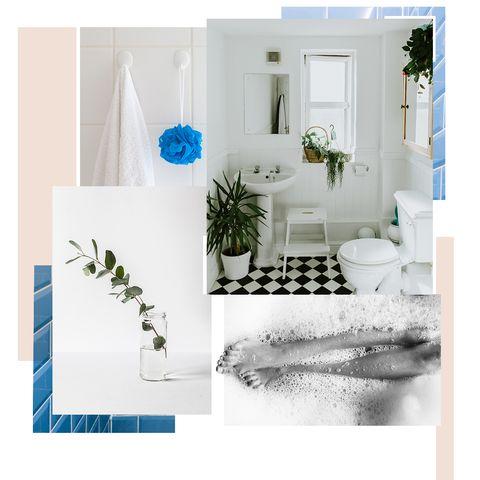 Room, Turquoise, Interior design, Teal, Aqua, Plumbing fixture, Door, Rectangle, Home, Design,