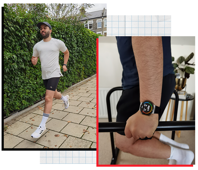 Textile, Human leg, Wrist, Pattern, Style, Watch, Fashion, Black, Athletic shoe, Active shorts,