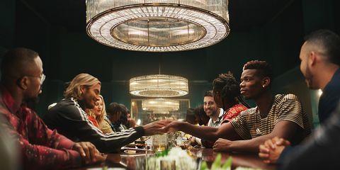Lighting, Fun, Interaction, Human, Design, Restaurant, Conversation, Interior design, Table, Games,