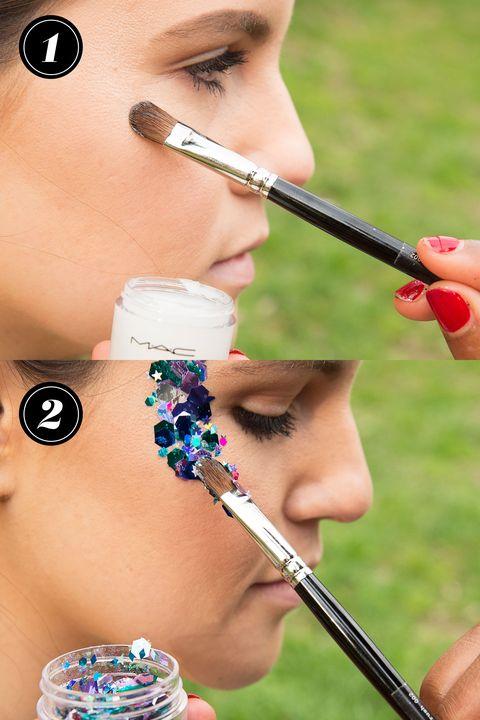 How To Wear Body Glitter Tricks For Applying Glitter Makeup
