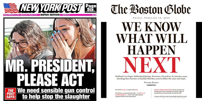 Parkland Shooting Newspaper Front Pages