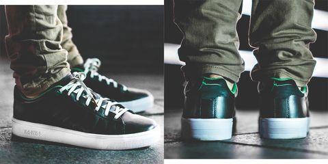 Shoe, Footwear, Sneakers, White, Green, Plimsoll shoe, Sportswear, Skate shoe, Athletic shoe, Walking shoe,