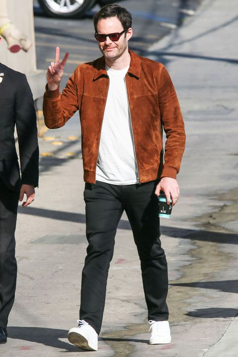 A Love Letter to Bill Hader's Perfect Brown Suede Jacket