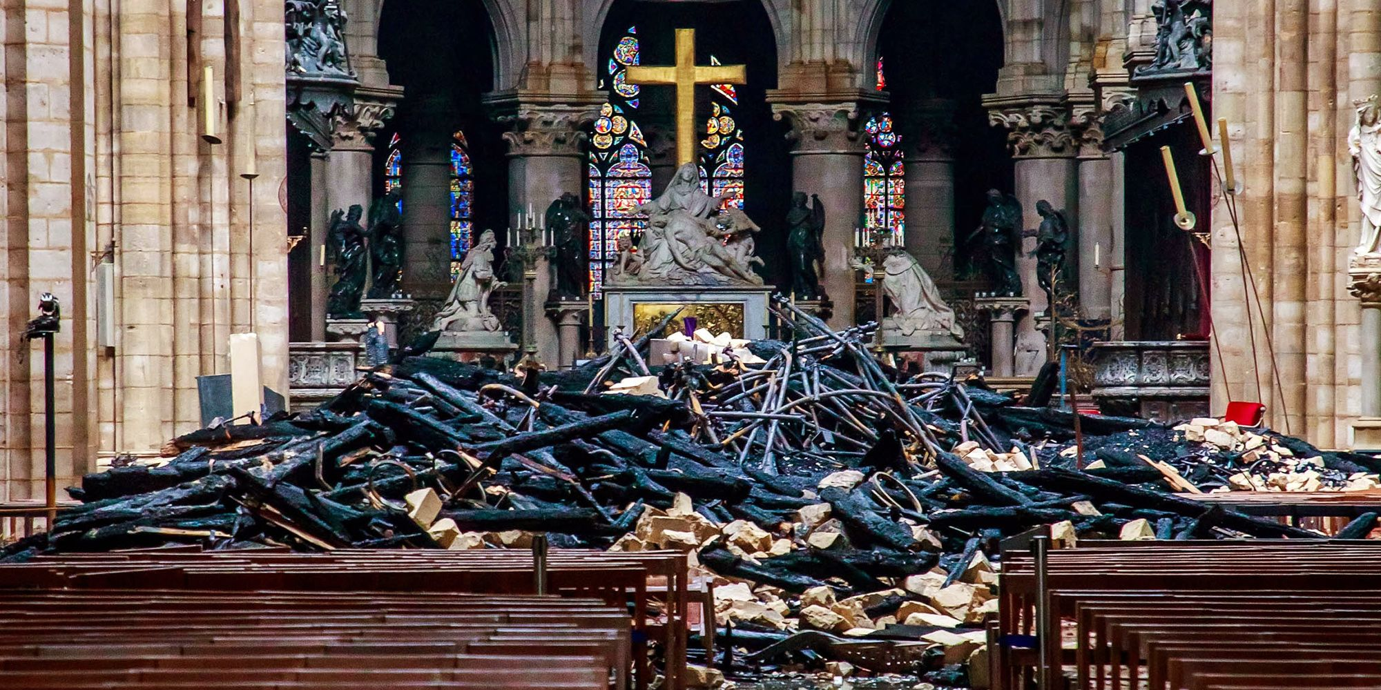 French President Emmanuel Macron has vowed to rebuild the historic cathedral after a devastating fire ripped through it.