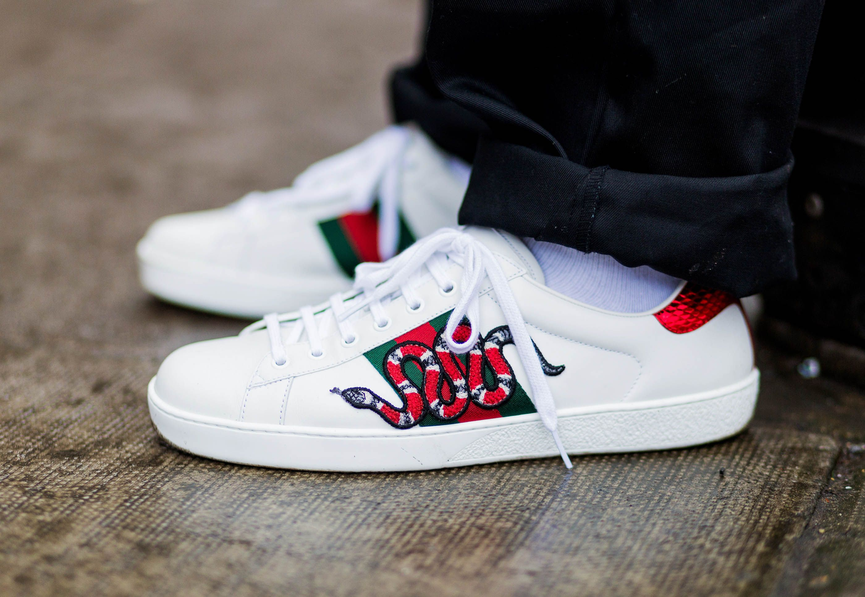 Try On' Gucci's Signature Ace Sneakers