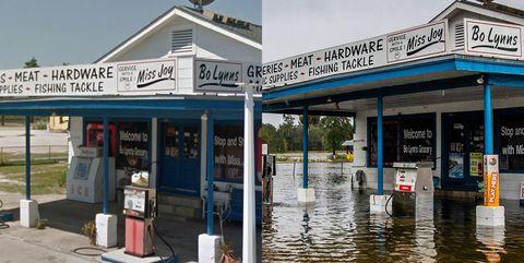 Hurricane Michael damage, flooding