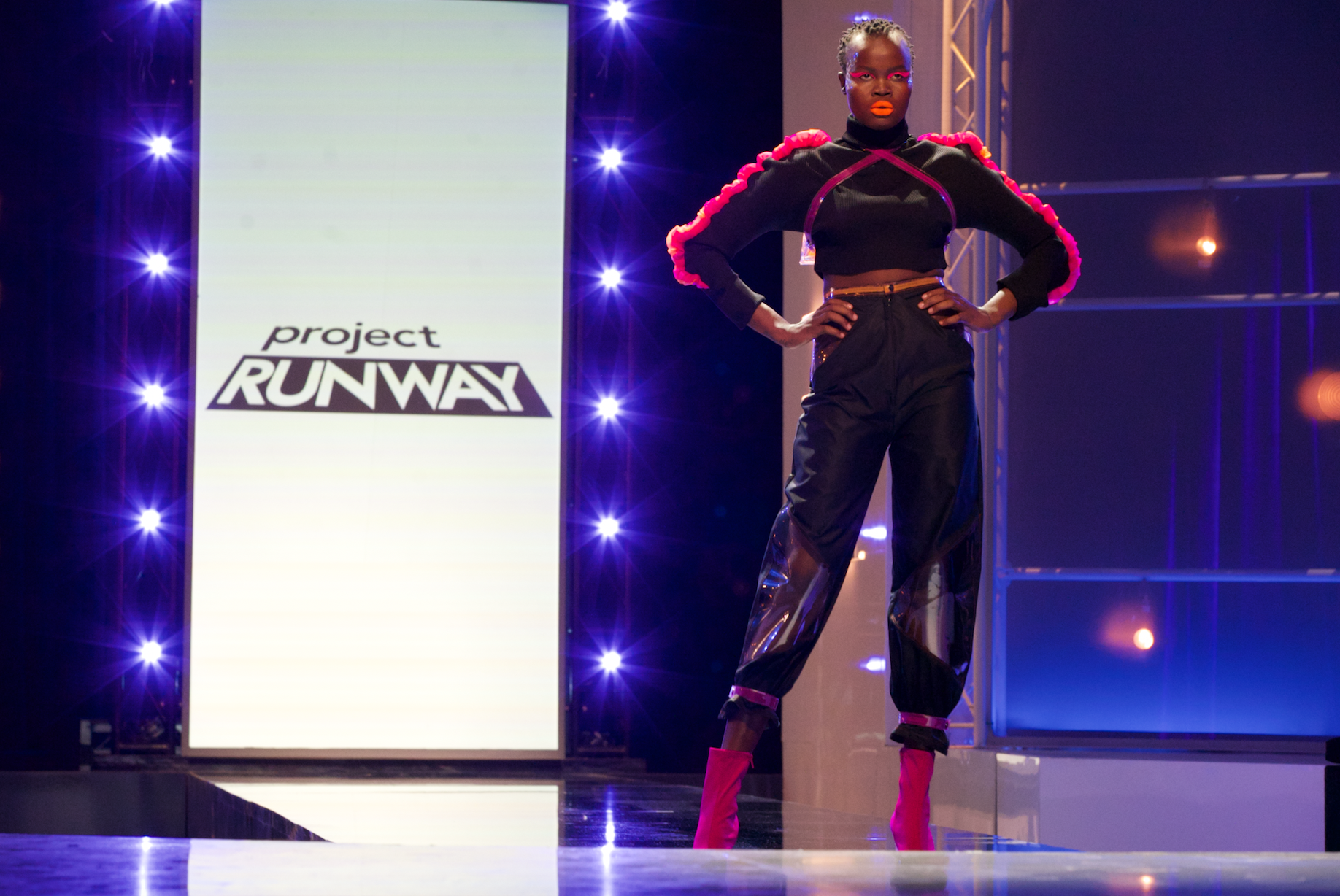 We Tried to Wear 'Project Runway' Makeup Looks in Real Life