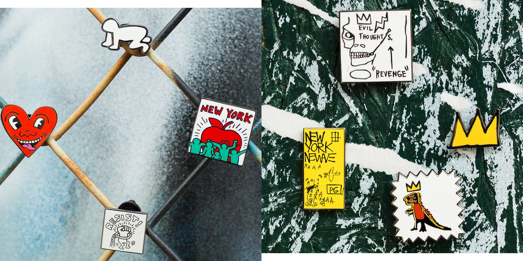 cfd6a34a Uniqlo Dropped Basquiat and Keith Haring Pins Just in Time for Peak Jacket  Season
