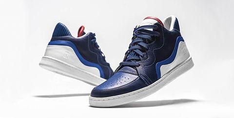 Shoe, Footwear, Sneakers, White, Blue, Cobalt blue, Outdoor shoe, Electric blue, Walking shoe, Sportswear,