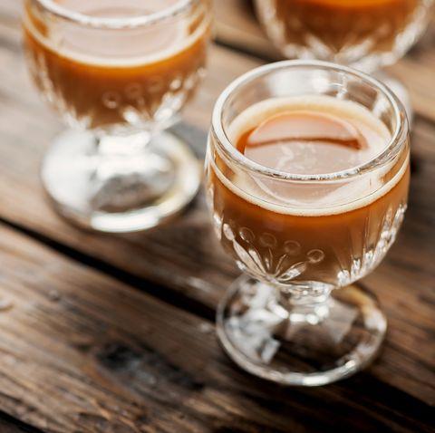 Drink, Alcoholic beverage, Distilled beverage, Beer cocktail, Food, Liqueur, Beer, Beer glass, Apple cider, Ingredient,