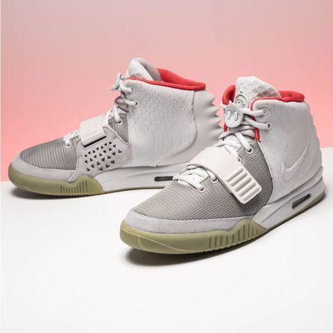 Shoe, Footwear, Sneakers, White, Yellow, Walking shoe, Outdoor shoe, Running shoe, Sportswear, Athletic shoe,