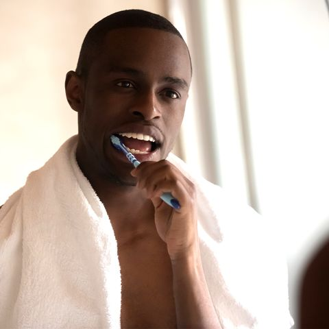 Lip, Finger, Skin, Tooth, Jaw, Neck, Muscle, Nail, Facial hair, Tongue,