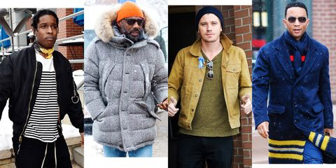 Clothing, Street fashion, Jacket, Outerwear, Fashion, Overcoat, Fur, Coat, Beard, Headgear,