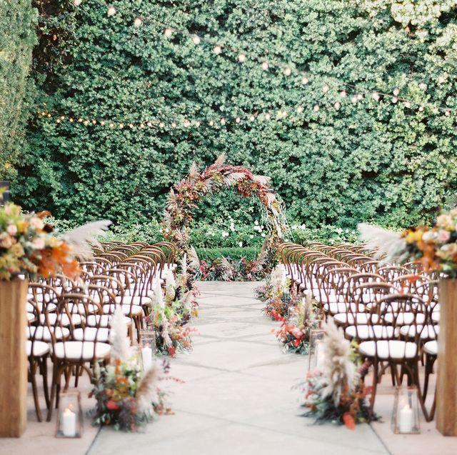 12 Pretty Fall Wedding Arch Ideas Outdoor Fall Wedding Altars