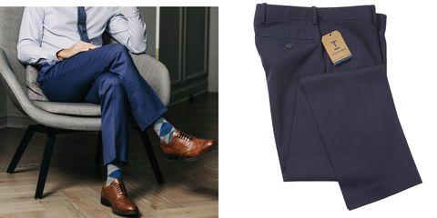 Clothing, Jeans, Blue, Denim, Footwear, Pocket, Trousers, Leg, Shoe, Suit,