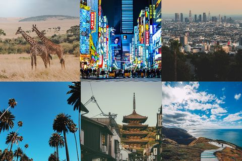 Landmark, Collage, Architecture, Sky, Travel, City, Art, Metropolis, Tourism, World,