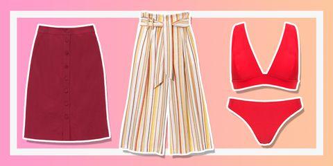 Clothing, Pink, Fashion, Peach, Dress, Pattern, Waist, Costume, Fashion design,