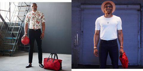 Clothing, White, Red, Jeans, Fashion, Shoulder, Standing, Denim, T-shirt, Footwear,