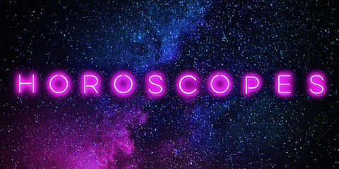 Text, Purple, Violet, Font, Sky, Space, Astronomical object, Neon, Atmosphere, Magenta,