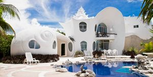 Bijzondere airbnb  Mexico - in deze schelpen airbnb kun je als de Kleine Zeemeermin door het leven
